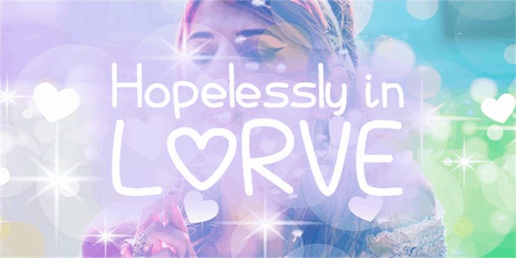 Hopelessly In Lurve Font poster abstract
