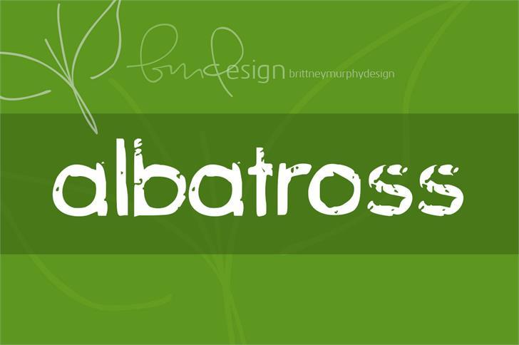 albatross Font screenshot design