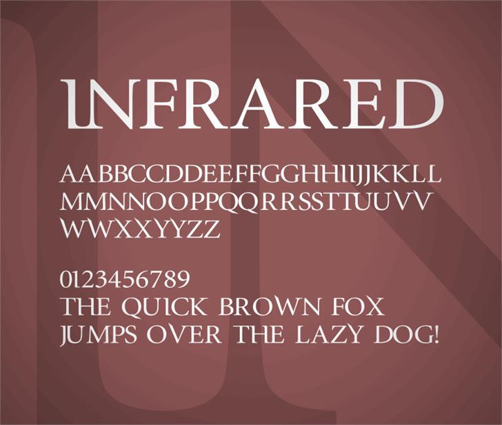 InfraRed Font design screenshot