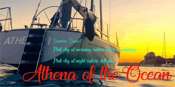 Athena of the Ocean Font ship sky