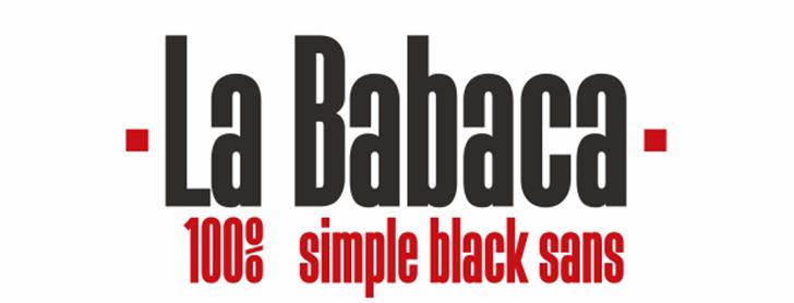 La Babaca Font poster design