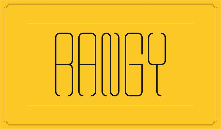 Rangy Font design graphic