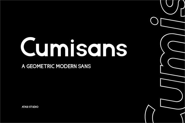 Cumisans Font poster