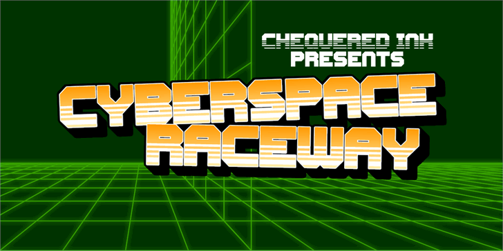 Cyberspace Raceway Back font by Chequered Ink