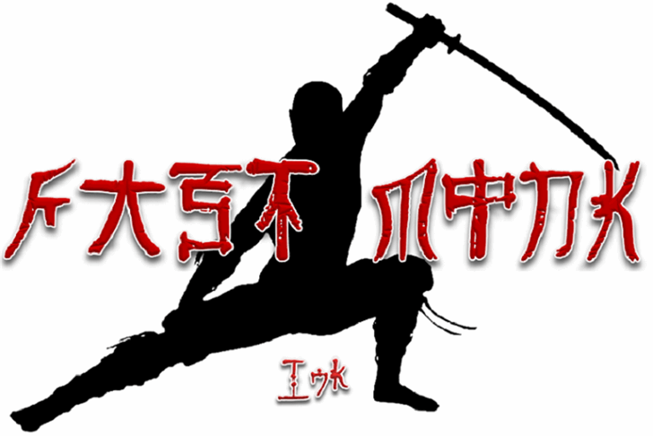 Fast Monk _ Ink Font martial arts