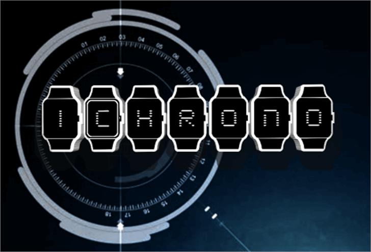 iChrono Font clock screenshot