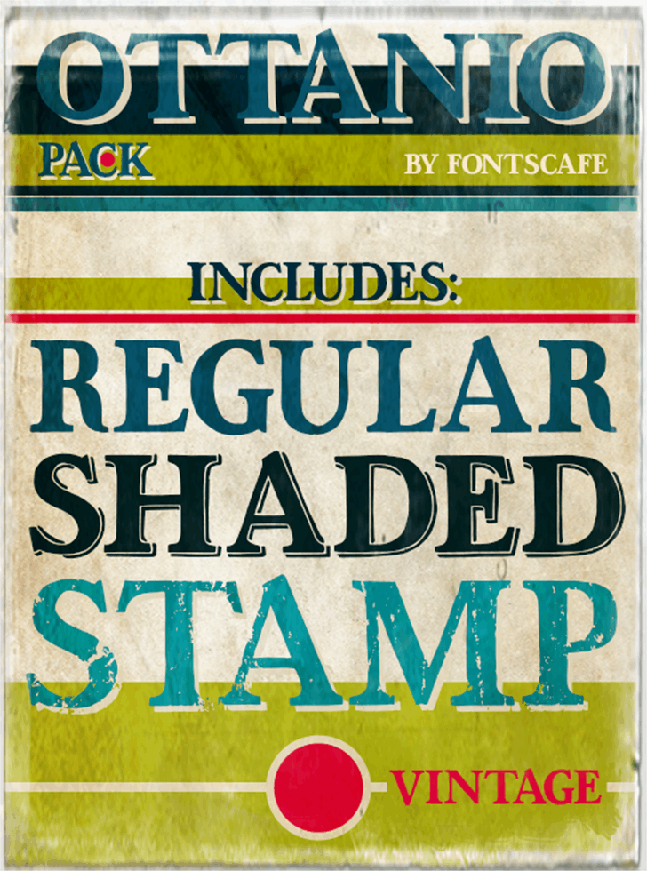 Ottanio Stamp DEMO font by FontsCafe