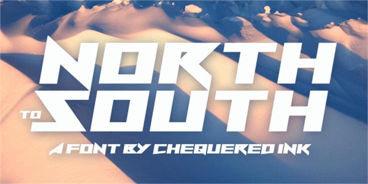 North to South Font screenshot design