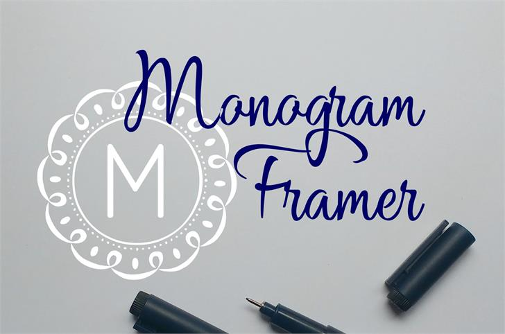 Monogram Framer Font handwriting design