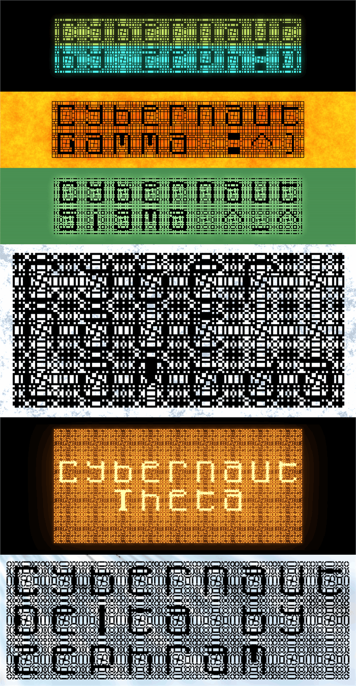 Cybernaut Font screenshot text