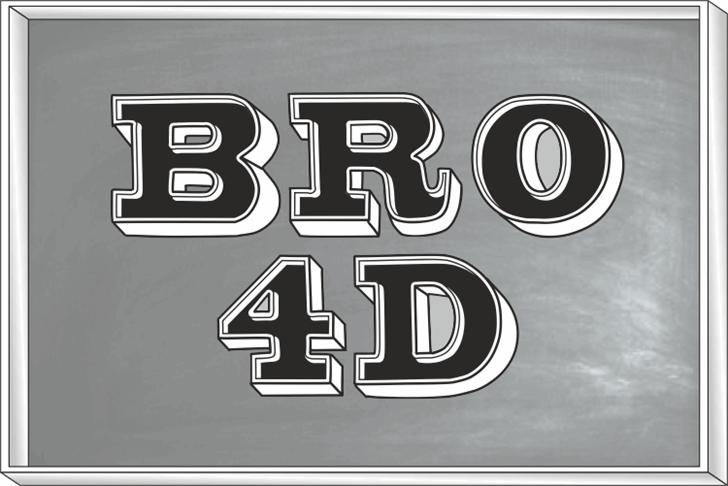 Bro 4D Demo Font design logo