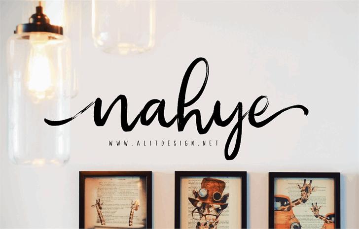 nahye Font wall art