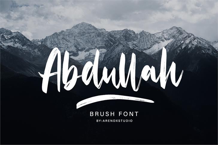 Abdullah Font poster