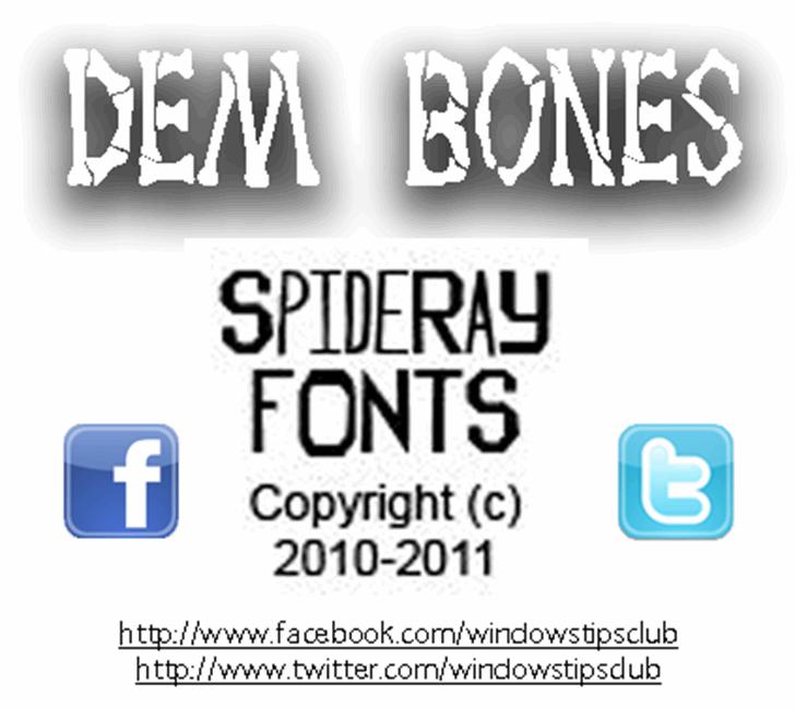 Dem Bones Font screenshot text
