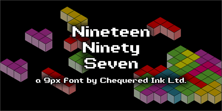 Nineteen Ninety Seven font by Chequered Ink