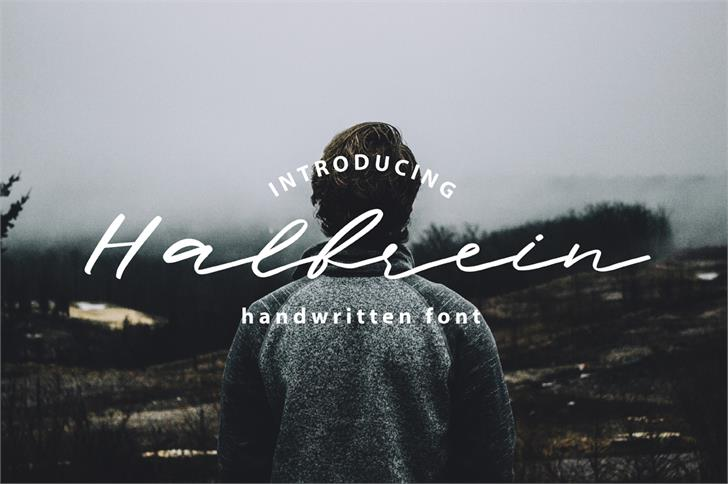 Halbrein font by Mr. Typeman - FontSpace