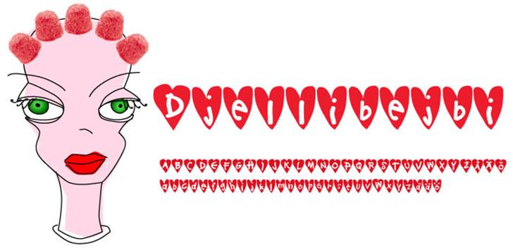 Djellibejbi font by Fontomen