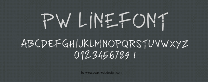 PWLinefont by Peax Webdesign