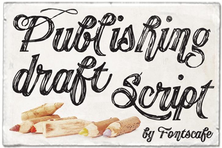 Publishing Draft Script DEMO ve Font typography handwriting