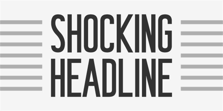 Shocking Headline font by Chequered Ink
