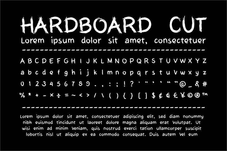 My Hardboard Cut Font poster