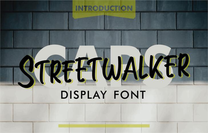 Streetwalker Caps (FREE PERSONA Font poster