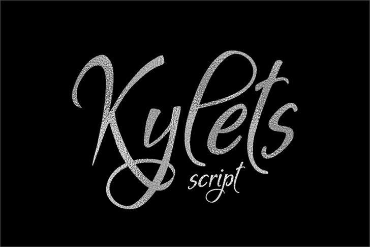 Kylets font by Eva Barabasne Olasz