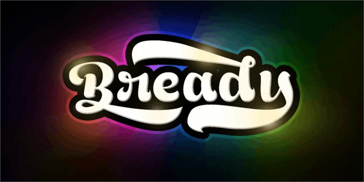 Bready Regular Demo Font design screenshot
