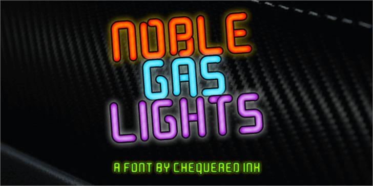 Noble Gas lights Font screenshot poster