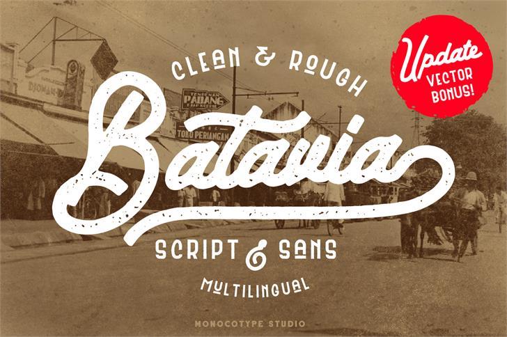 Batavia Sans Clean Font text typography