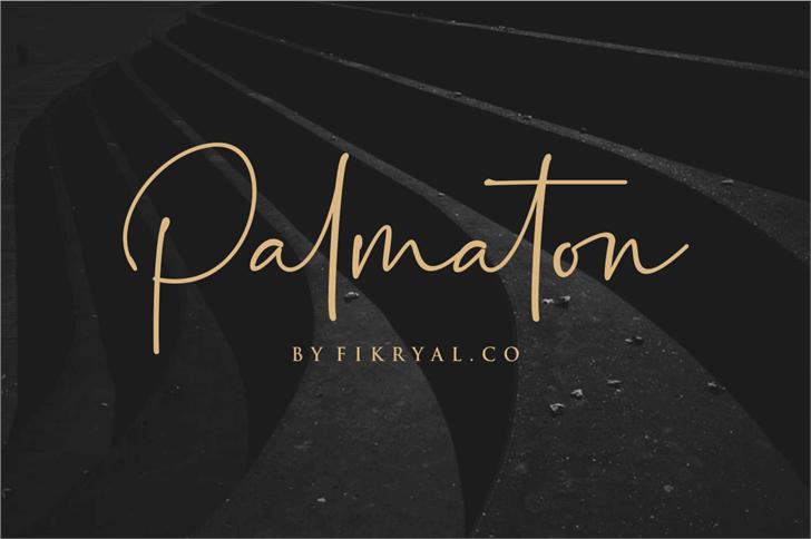Palmaton Font text
