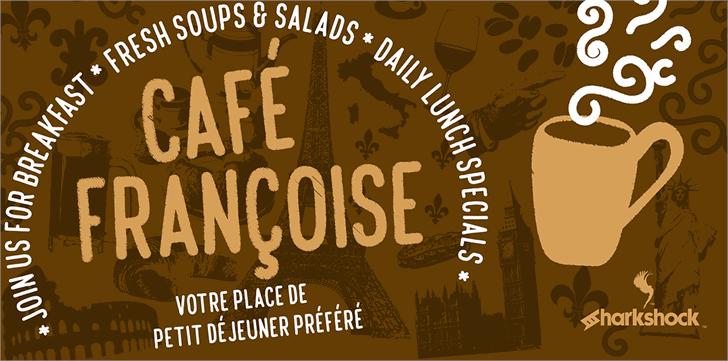 Café Françoise font by sharkshock