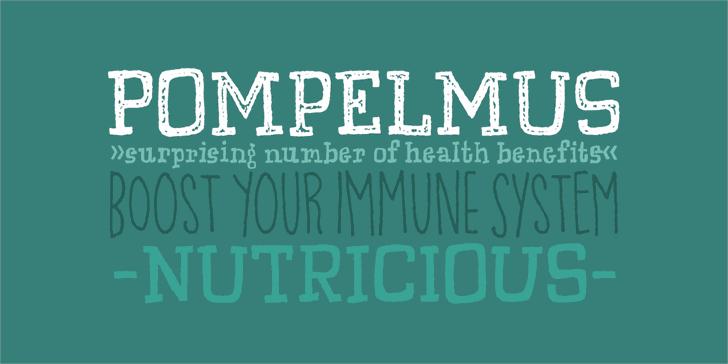 Pompelmus Healthy DEMO Font design typography
