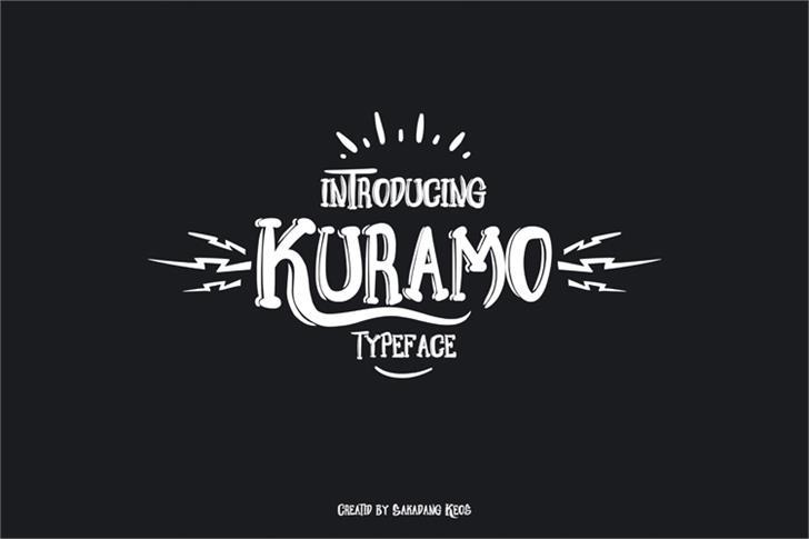 Kuramo font by Terminal Kota