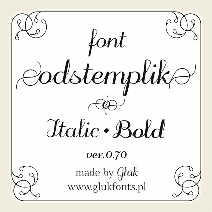 odstemplik Font handwriting drawing