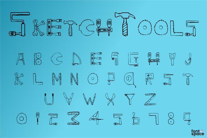 SketchTools Font poster