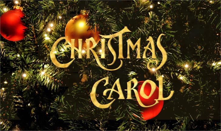 ChristmasCarol font by JoannaVu