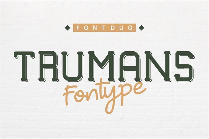 TRUMANS Font handwriting