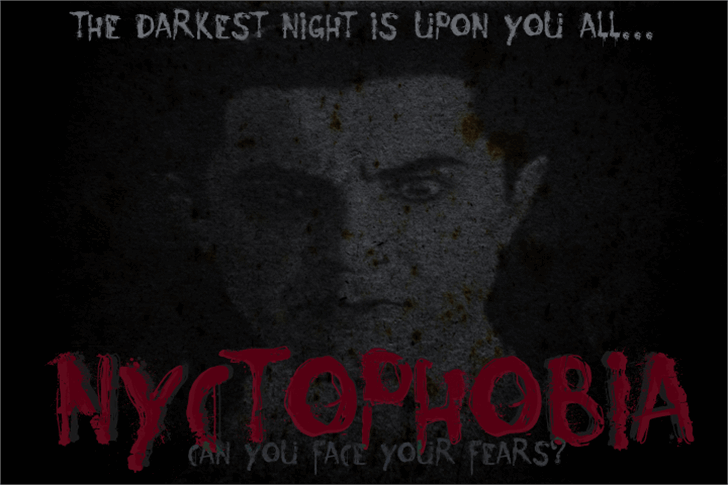 Nyctophobia font by David Kerkhoff