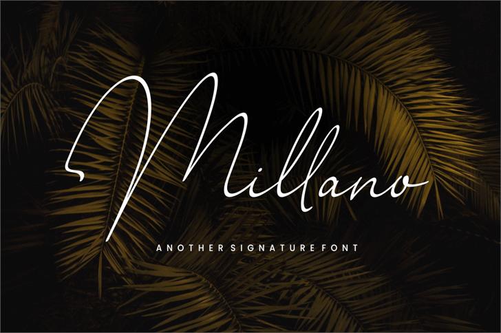 Millano Font design typography