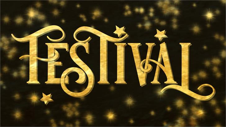 festival font by JoannaVu