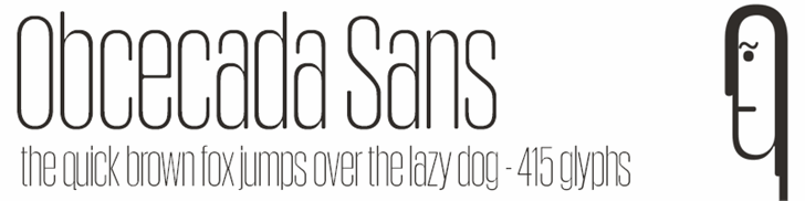 Obcecada Sans Font design typography