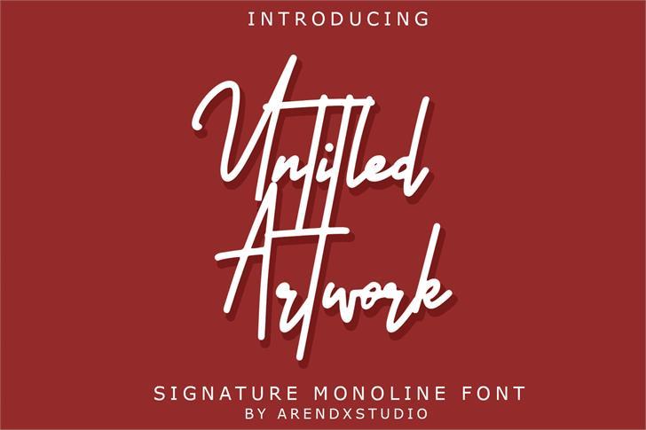 Untitled Artwork Font poster