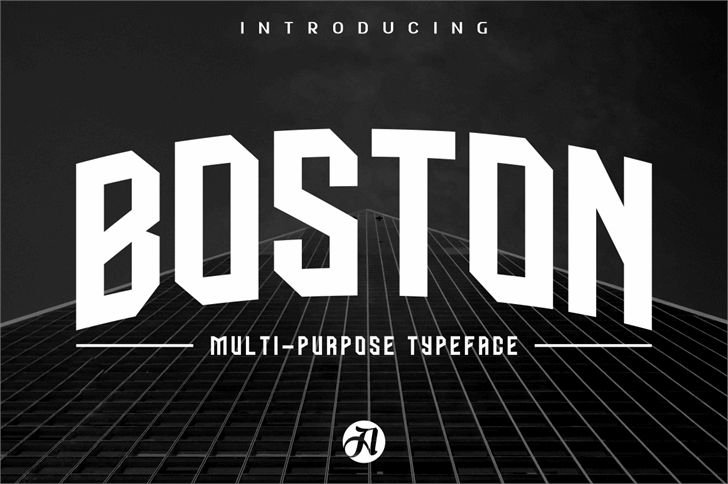 BOSTON CAPS Font screenshot