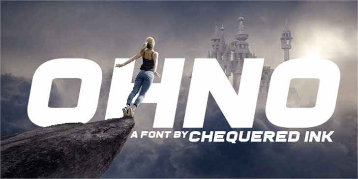 Ohno Font outdoor person
