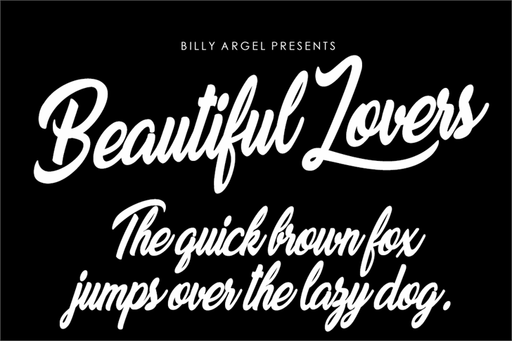 Beautiful Lovers Personal Use font by Billy Argel