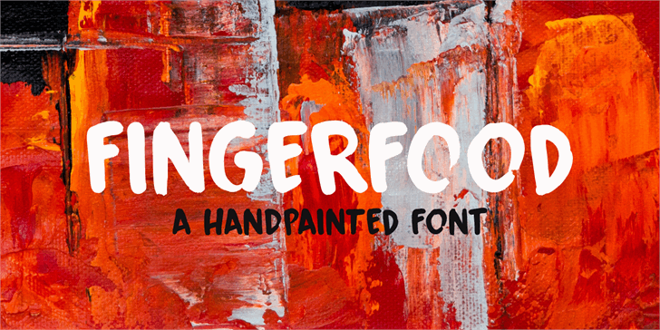 Fingerfood DEMO Font painting stop