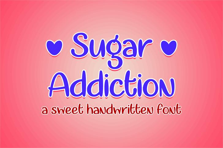 Sugar Addiction Font design graphic