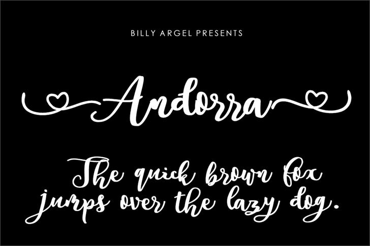 Andorra Personal Use Font handwriting text