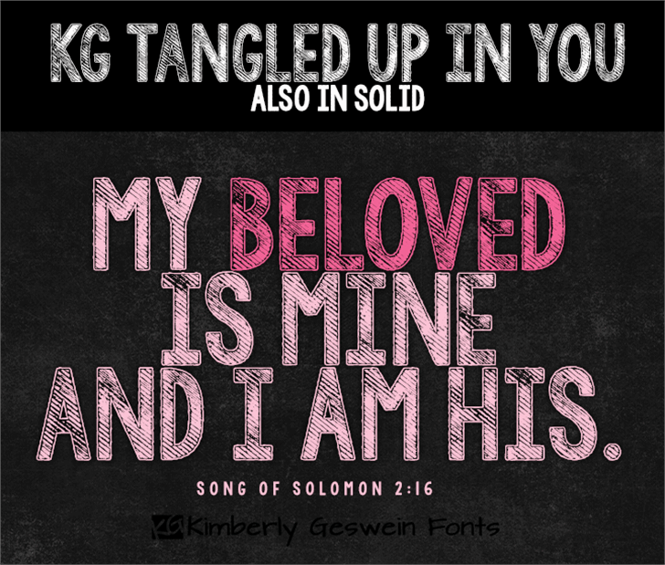 KG Tangled Up In You  Font poster book